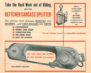 Bettcher carcass splitter